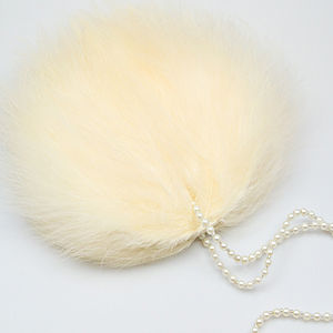 Mae Ivory Feather Wedding And Bridal Purse - wedding fashion