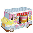 Ice Cream Van And Paper Bowl Set