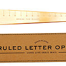'Break the Rules' Letter Opener