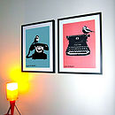 Set Of Two Retro Prints