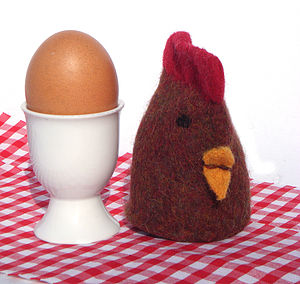Knitted Chick Egg Cosy - egg cups & cosies