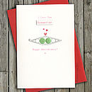 Anniversary Peas In Pod Card