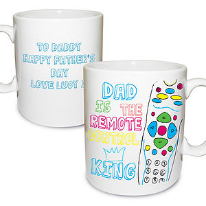 Personalised Father's Day Remote Control Mug