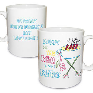Personalised Father's Day BBQ Dad Mug