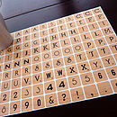 Scrabble Wall Stickers Mini