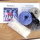 bunny knitting kit contents