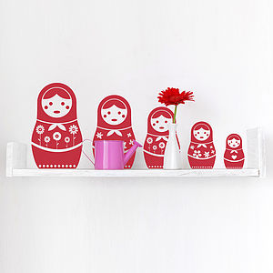 Russian Doll Wall Sticker Set - wall stickers