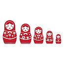Russian Doll Wall Sticker Set