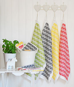 Leaves Tea Towel - aprons & tea towels