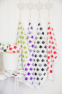 Cups Tea Towel - aprons & tea towels