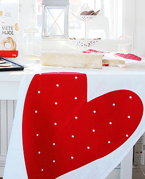 Red Heart Tea Towel