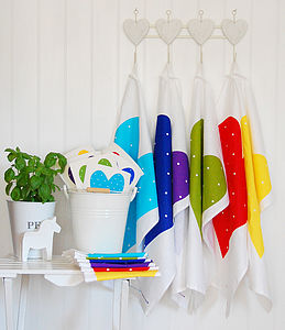 Heart Tea Towel - aprons & tea towels