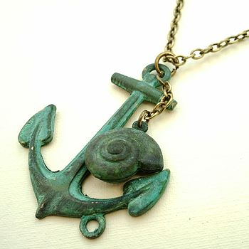 Vintage Style Anchor Necklace