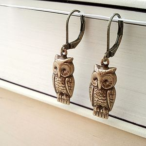 Vintage Style Owl Earrings - jewellery sale
