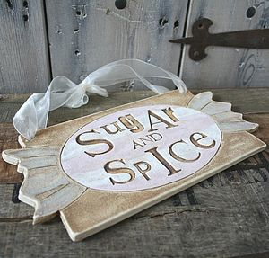 'Sugar And Spice' Candy Buffet Sign