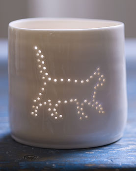 Porcelain Prowling Pussycat Tea Light