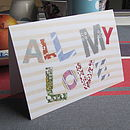 Pack Of Five 'All My Love' Cards