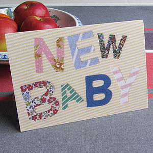 Pack Of Five 'New Baby' Cards