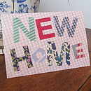 Pack Of Five 'New Home' Cards