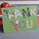 Pack Of Five 'Thank You' Cards