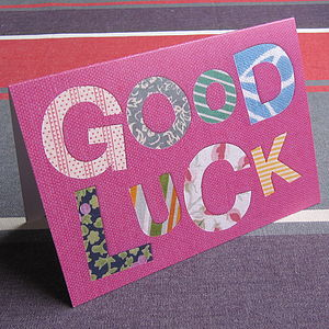 Pack Of Five 'Good Luck' Cards