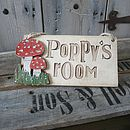Personalised Room Sign With Toadstools