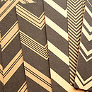 Set Of 12 Handmade Chevron Note Cards