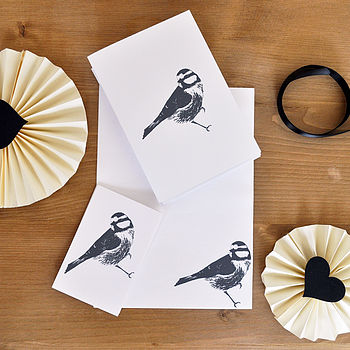 Blue Tit Hand Printed Stationery Set