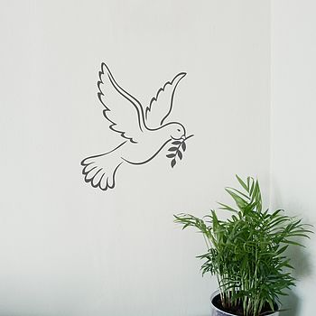 White Dove Vinyl Wall Sticker