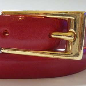 Red Skinny Leather Belt For Hip Or Waist - belts