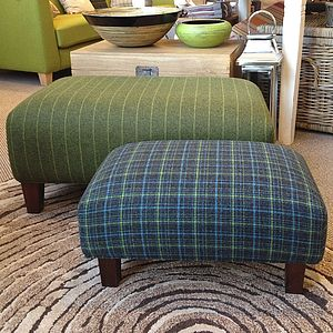 Bespoke Upholstered Footstool - furniture