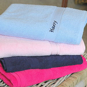 Kids Personalised Swim Towels - bathroom