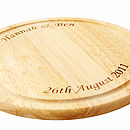 Personalised Chopping Board Round/Rectangular