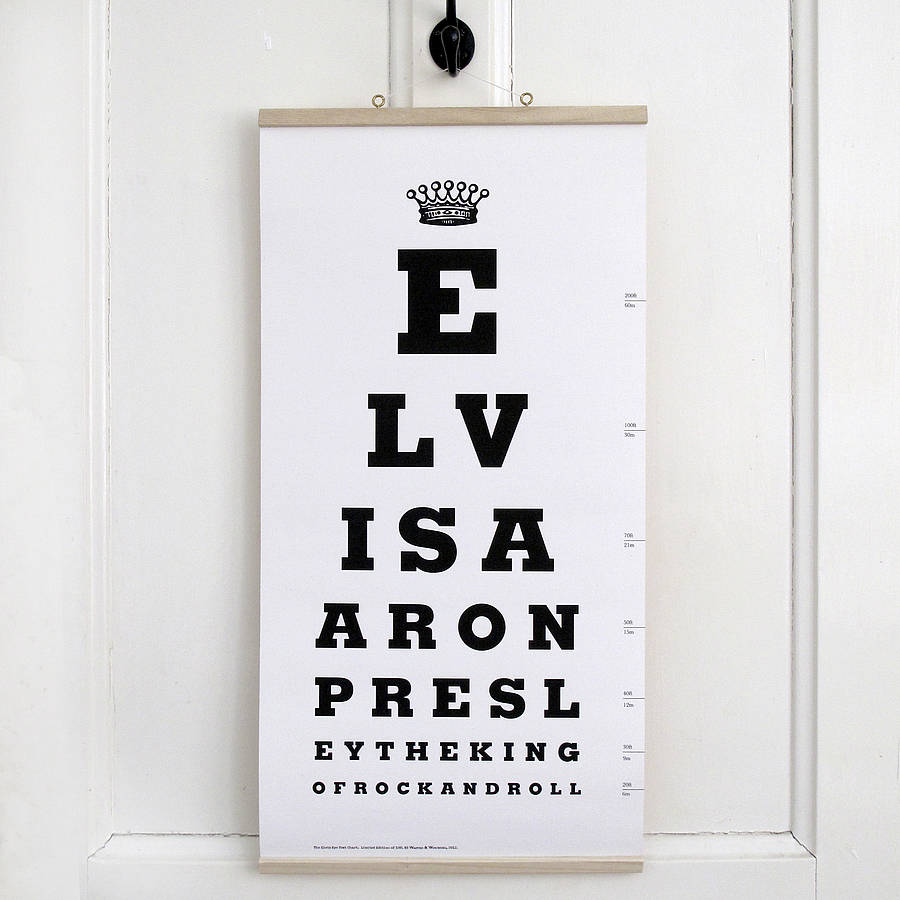 Elvis presley eye test chart by wasted wounded elvis presley eye test chart nvjuhfo Image collections