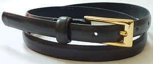 Black Leather Skinny Belt - belts