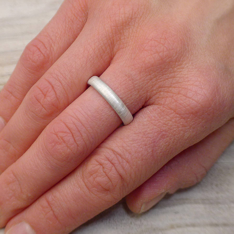 sterling silver ring with spun silk finish by lilia nash jewellery ...
