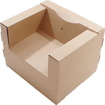 Adult's Cardboard Chair Brown