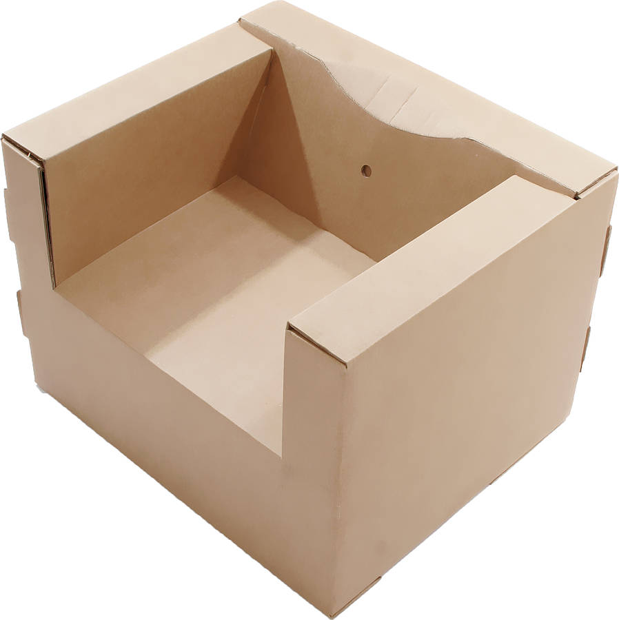 adult s cardboard chair brown by kid eco cardboard toys