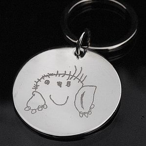 Personalised Drawing Or Handwriting Key Ring - keyrings