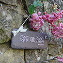 Engraved Slate Valentine Or Wedding Sign