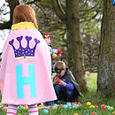 Pale pink personalised princess cape