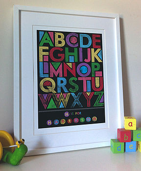 Personalised Alphabet Block Print