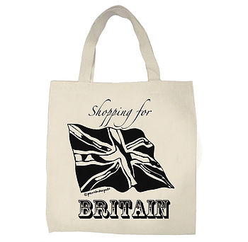 Shopping For Britain Tote Bag
