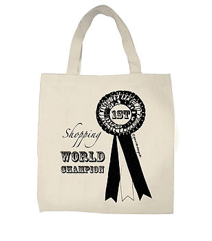 Shopping World Champion Tote Bag