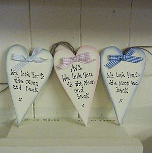Personalised Heart 'To The Moon And Back' - baby & child