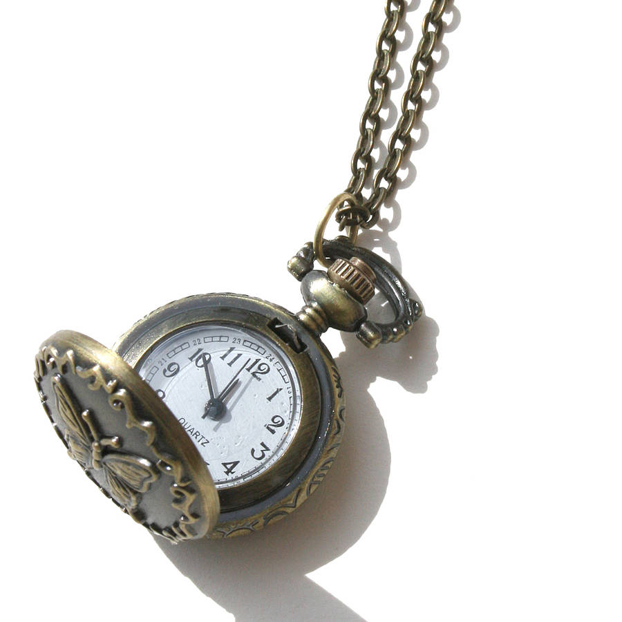 hot art net round necklace toctai watch new clock vintage photo pocket pendant glass dome home jewellery a