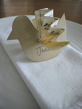 Vintage Bird Wedding Place Name