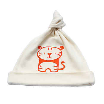 Tiger Organic Cotton Baby Hat