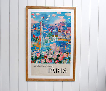 Framed Original Paris Travel Poster