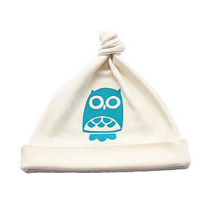 Owl Organic Cotton Baby Hat - hats, scarves & gloves